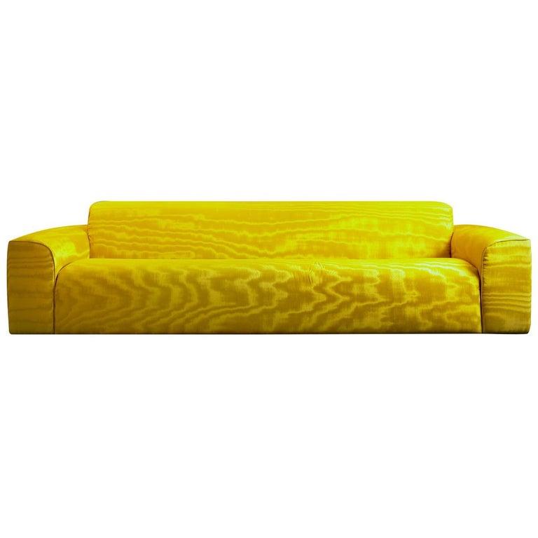 Pierre Yellow Sofa by DOM Edizioni For Sale