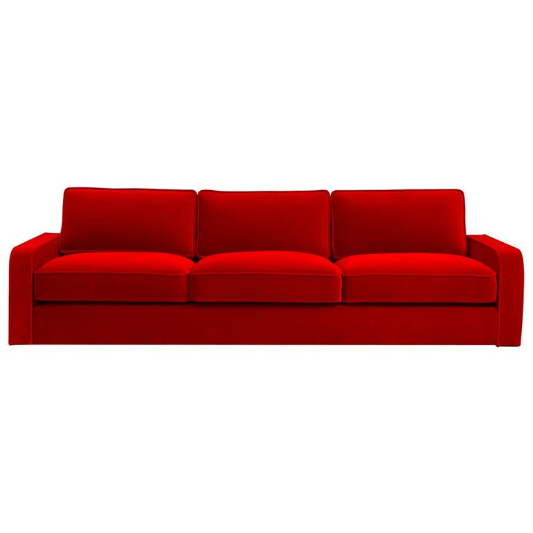 Romeo Red Sofa by DOM Edizioni For Sale at 1stdibs