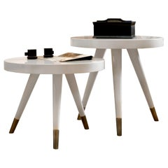 Andrea Set of 2 Side Tables by DOM Edizioni