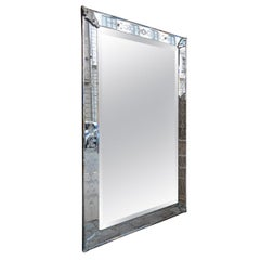Handsome Large Rectangular Venetian Mirror, 1920s-1940s