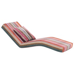Jalamar Indoor Multi-Color Stripes Chaise Longue by MissoniHome