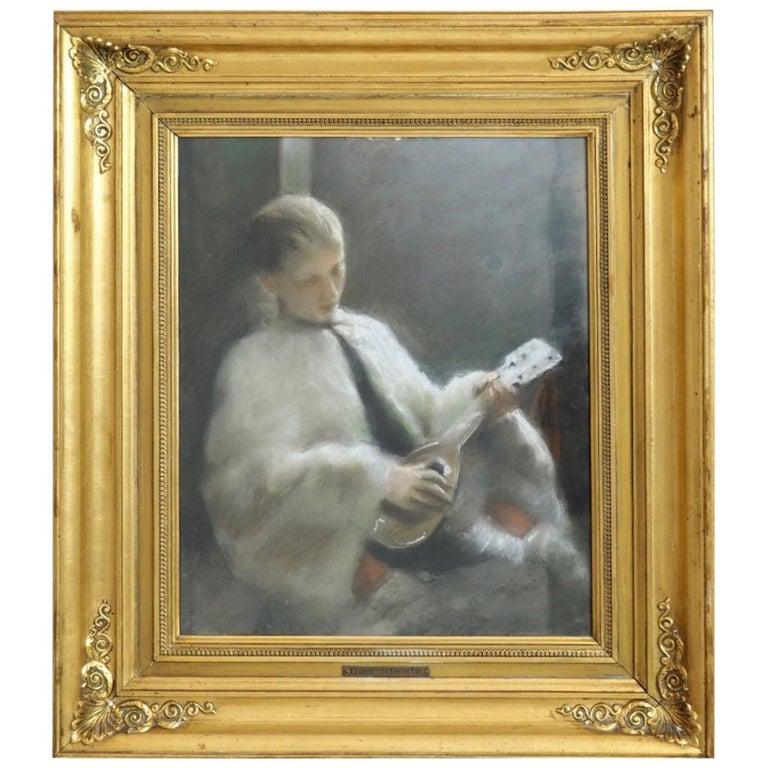 Fine Pastel by Frans Schwartz For Sale