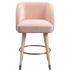 Pauline Pink Bar Stool by Dom Edizioni