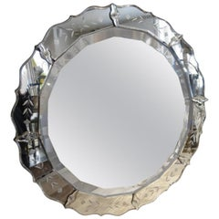 Wonderful Round Venetian Mirror, 1920s-1940s
