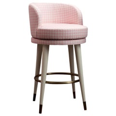 Isidoro Pink Bar Chair by DOM Edizioni