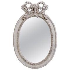 Large Gustavian Style Beveled Mirror, circa 1900