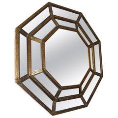Spanish, 1980s Bedoya Arte Signed Octagonal Mirror