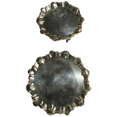 19th Century Pair of Silver Dishes on Feet London