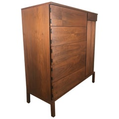 Simple, Elegant Mid-Century Modern Custom Designed Gentleman's Chest or Dresser