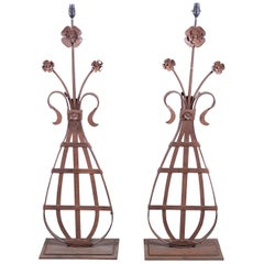 Pair of 19th Century French Architectural Lamps