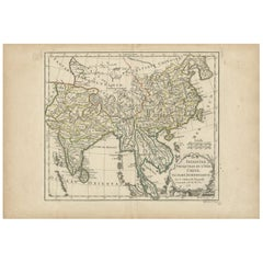 Antique Map of Asia by Dussy, 1778
