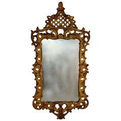 Mid-18th Century Carved Giltwood Mirror