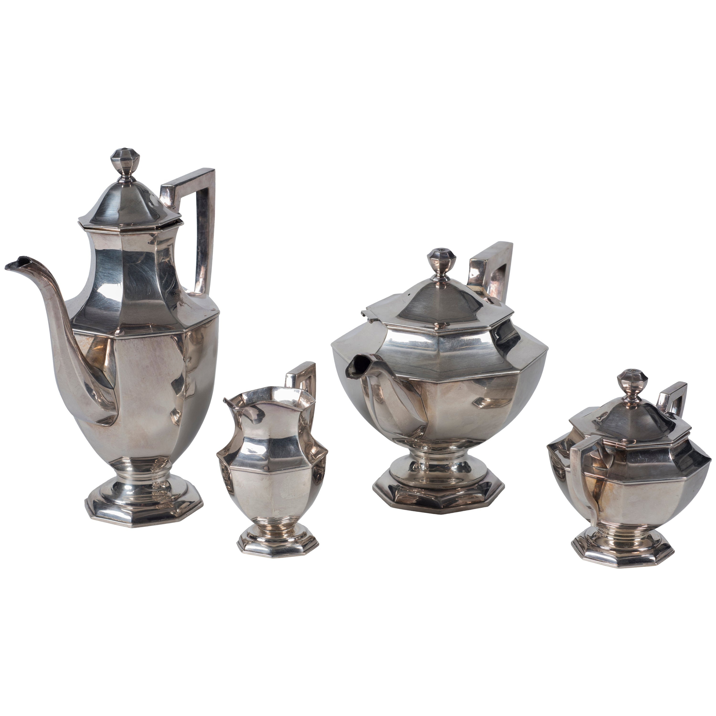 Vintage Japanese Tea and Coffee Silver Set, 20th Century