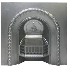 Antique Mid-Victorian Arched Cast Iron Fire Grate