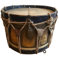 19th Century French Military Drum, Stamped Giroult Paris