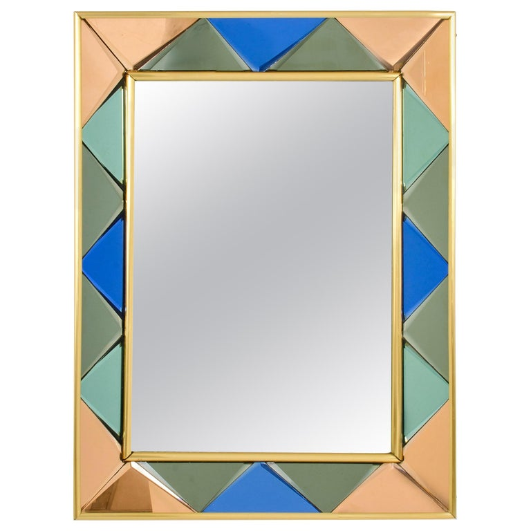 Vintage Cristal Art Mirror, 1960s For Sale