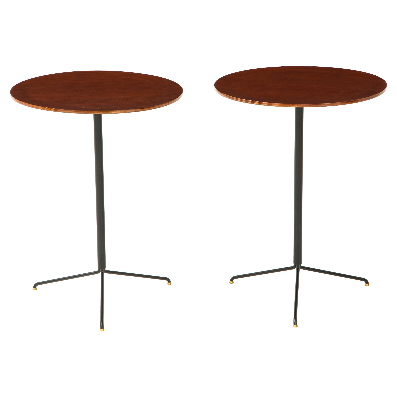 Osvaldo Borsani for Tecno Pair of Side Tables Model T44