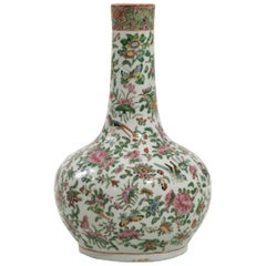 Family Rose Chinese Porcelain Vase, 19th Century
