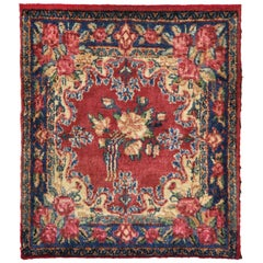 Rug - Carpet - Wool Hand Knotted Red and Beige Kirman