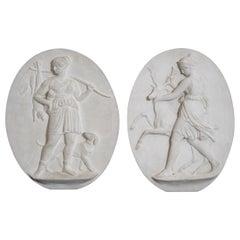 Two Plaster Relief after Bertel Thorvaldsen
