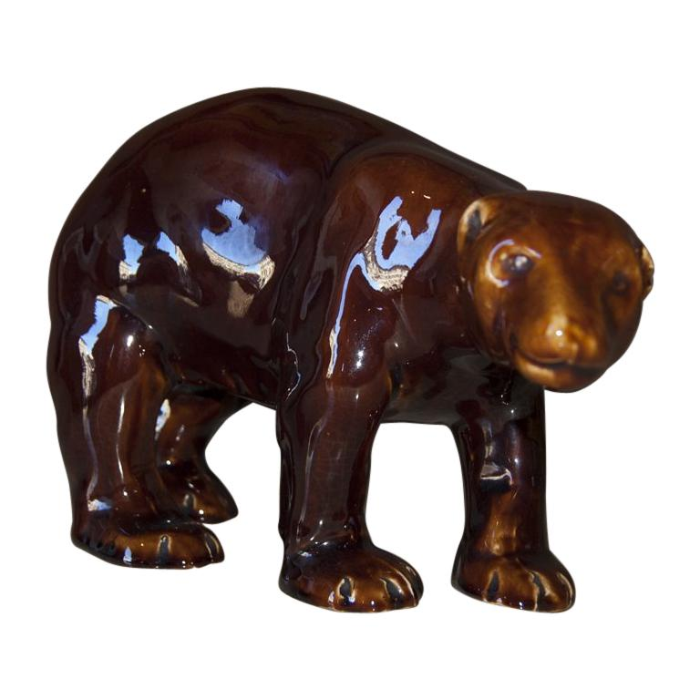 Art Deco French Brown Bear, 1930s For Sale