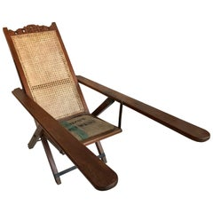 19th Century Belgian Ships Deck Chair
