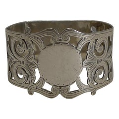 Antique, English Sterling Silver Napkin Ring, 1902
