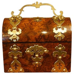 Victorian Walnut Dome Top Casket