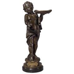 'Bonne Année, Bonne Santé', a Bronze Figure by Adolphe Maubach, circa 1900