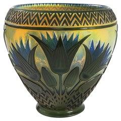 "Gallé ""Egyptian"" Glass Vase"