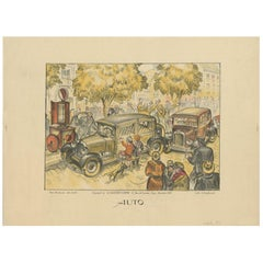 Antique Poster of Cars by Dorfinant, circa 1930