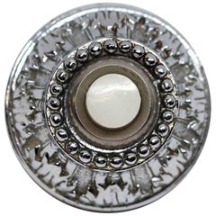 1931 NYC Waldorf Astoria Hotel Silver Plated Ornate Doorbell with White Button
