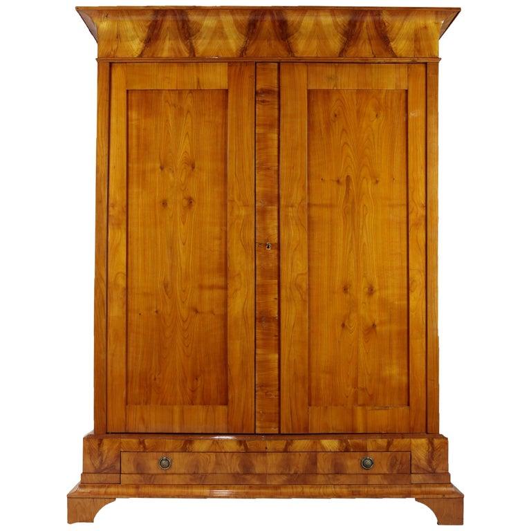 Biedermeier Period Cupboard Cabinet, Cherrywood, circa 1820 1