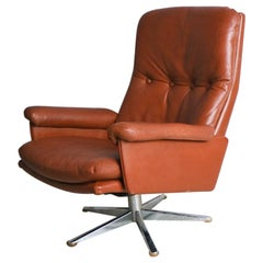 1960s Midcentury ESA Swivel Chair by Werner Langenberg