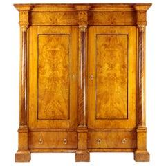 Biedermeier Period Cupboard Cabinet, Ash, circa 1820