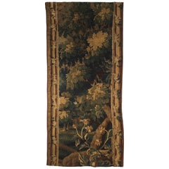Antique Aubusson Verdure Tapestry Fragment