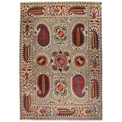 Rug - Carpet - Hand Knotted Wool in Red and Brown Jugendstil Tabriz 274 x 388 cm