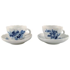 Pair of Meissen Coffee Cups and Saucers