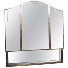 NYC Waldorf Astoria Hotel Medical Bath Cabinet; 3 Mirrors, Mirrored Shelf