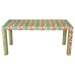 Custom Parsons Style Upholstered Console