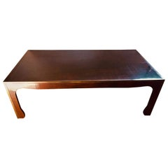 Branded Gracie Coffee Table Gilt Metal Banded Ming Style