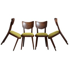 Set of 4 Dining Chairs, Midcentury, Original Upholstery