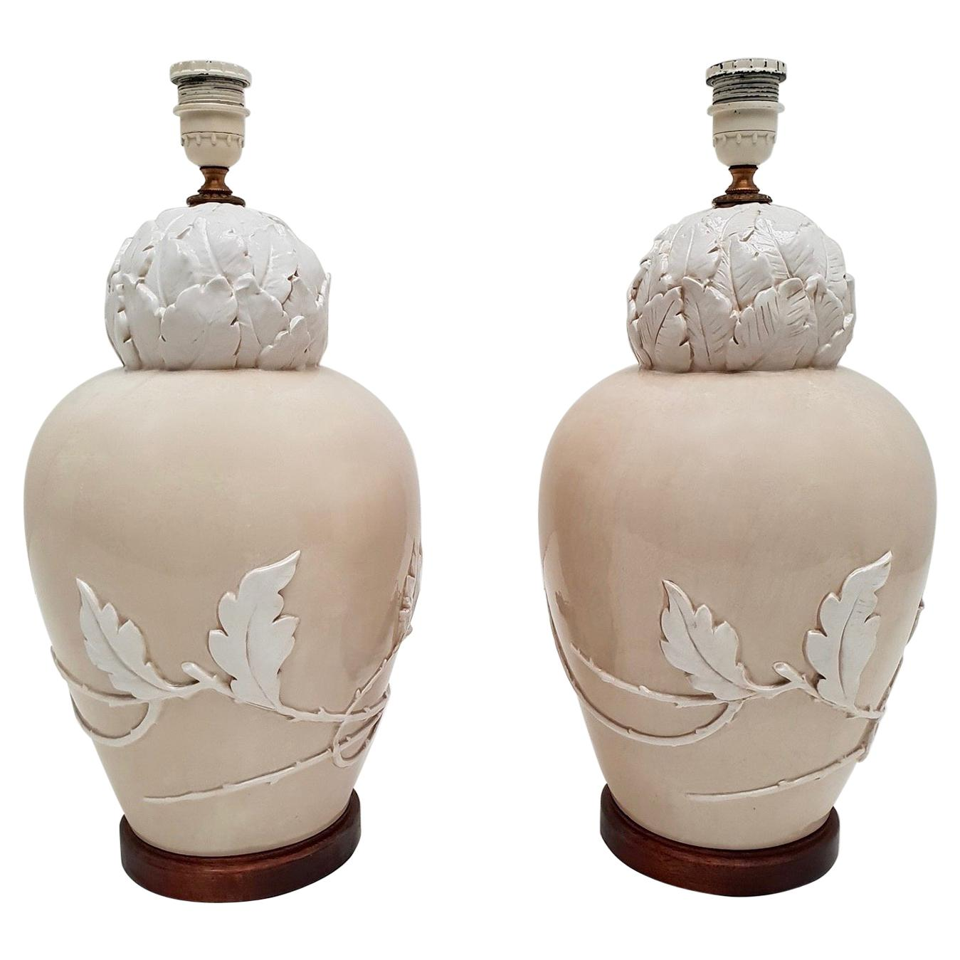 Pair of Mid-20th Century Ceramic Table Lamps