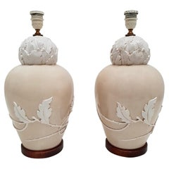 Pair of Mid-20th Century Ceramic Table Lamps