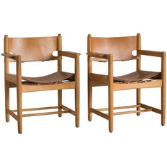 Børge Mogensen Pair of Armchairs for Fredericia Furniture