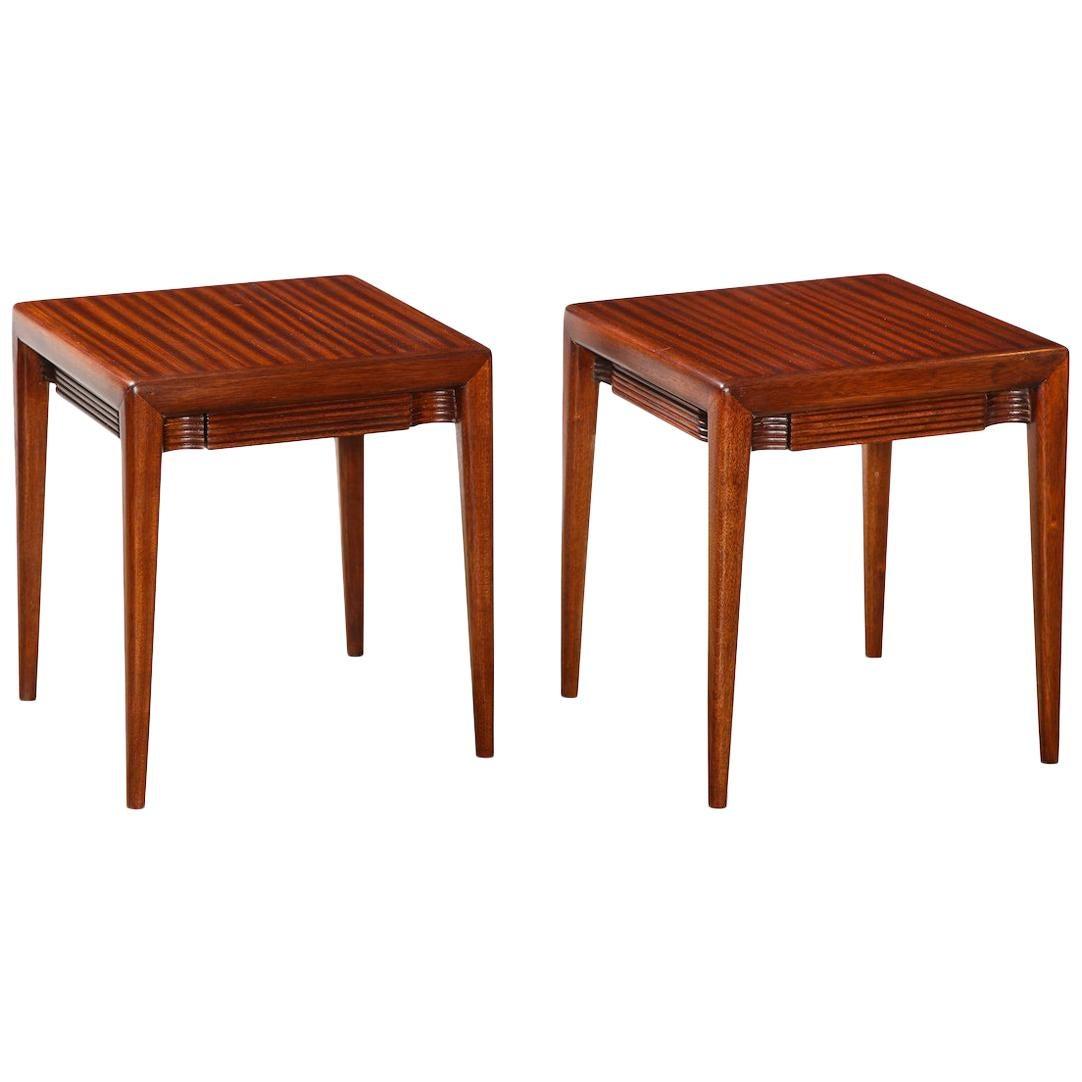 Pair of Low Side Tables by Osvaldo Borsani