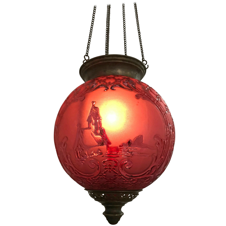 two Art Nouveau Candle Lantern by Baccarat, France, circa 1890-1920