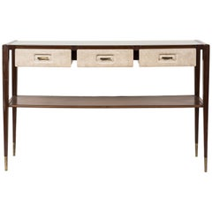 Vintage Wooden Console by Italian Architect and Designer Giò Ponti, 1950s
