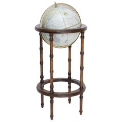 Cram World Globe on Wood Floor Stand