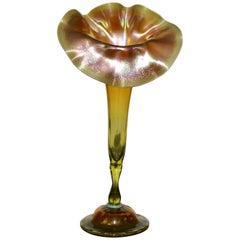 L.C.T Tiffany Studios Jack in the Pulpit Favrile Vase